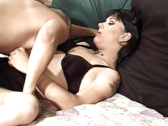 Slutty Transsexual Enjoys Fucking With Dude