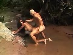 Wild sex with nice tranny in jungle